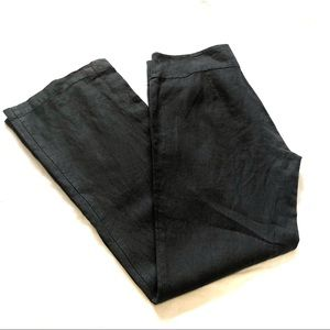 Eileen fisher straight leg pants washed black